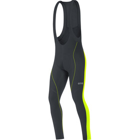 GORE WEAR C3+ Culotte Largo Térmico Hombre, black/neon yellow